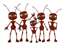 Ants 3d cartoon Stock Images