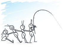Ants fishing Stock Image