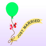 Ants get married Stock Image