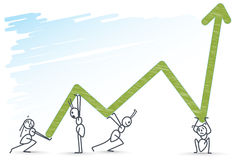 Ants holding a chart stock illustration