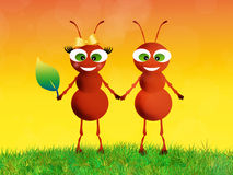 Ants in love Stock Images