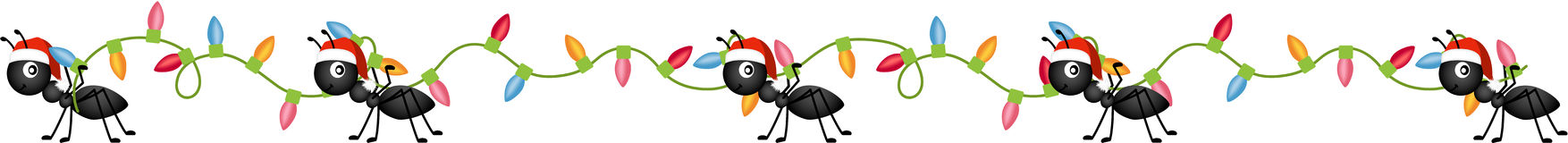 Ants on the march to deliver Christmas Lights. Scalable vectorial image representing a ants on the march to deliver Christmas lights, isolated on white Stock Image