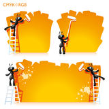 Ants Painted Banner Stock Photos
