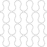 Seamless pattern of the paths ants stock illustration