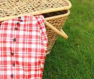 Ants at a picnic. Ants crawling towards a picnic basket Stock Image