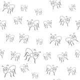 Ants seamless pattern Stock Photography