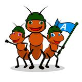 Ants Soldier. Ants group Illustration. EPS 10 file and large jpg included vector illustration