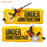 Ants Under Construction Stock Photography