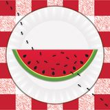 Ants & Watermelon royalty free stock photo