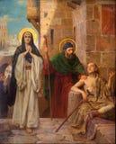 Antuérpia - St Peter e hl. Mary guardou o aleijado como parte do ciclo por Josef Janssens dos anos 1903 - 1910 na catedral do noss imagem de stock