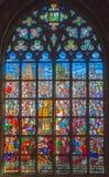 Antuérpia - Windowpane da catedral de nossa senhora imagem de stock royalty free