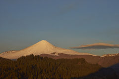 Antuco Volcano in Laguna de Laja National Park, Chile Stock Photography