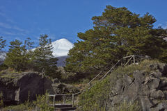 Antuco Volcano in Laguna de Laja National Park, Chile Royalty Free Stock Photography