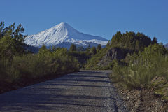 Antuco Volcano in Laguna de Laja National Park, Chile Stock Images
