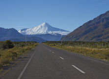 Antuco Volcano in Laguna de Laja National Park, Chile Royalty Free Stock Photos