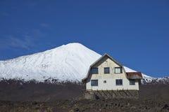Antuco vulkan i den Laguna de Laja nationalparken, Chile royaltyfria foton