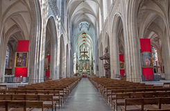 Antwepr -  Nave of cathedral of Our Lady Stock Photography