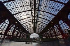 Antwerp Środkowa stacja kolejowa, działająca krajową kolejową firmą NMBS Zdjęcia Stock