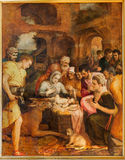 Antwerp - Adoration of pastores by Frans Floris from year 1568 in the cathedral of Our Lady Stock Photography