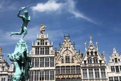 Antwerp arkitektur Arkivfoton