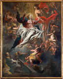 Antwerp - Assumption of Mary into Heaven by Cornelis Schut 1597-1605 in St. Charles Borromeo church Stock Photography