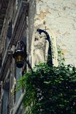 Antwerp - August 2010: view of a mural Mary statue with child Jesus royalty free stock images
