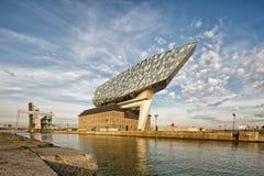 Antwerp Belgien - Oktober 2016: Det nya porthuset i Antwerp r Fotografering för Bildbyråer