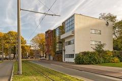 Antwerp BELGIEN - Oktober 2016: Guiette hus som planläggs av Le Co arkivbilder