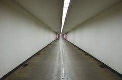 ANTWERP BELGIEN, SEPTEMBER 11, 2016: Cykla den Kennedy tunnelen i Antwerp arkivbilder