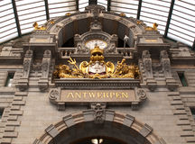 Antwerp Belgium. An old historical train station in antwerpen Royalty Free Stock Photography