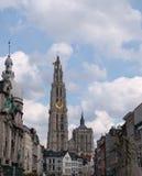 Antwerp Belgium. Cathedral of Our Lady in Antwerp, Belgium (Onze-Lieve-Vrouwekathedraal Stock Photo