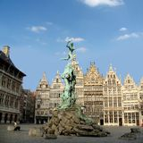 Antwerp, Belgium. The town square of Antwerp royalty free stock images
