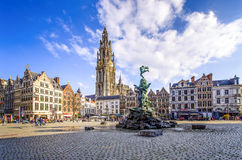 Antwerp, Belgium. ANTEWERP, BELGIUM - APR 11, 2016: City Hall at the main square in Antwerp, Belgium. Antwerp is the capital of Antwerp province and the most Stock Images