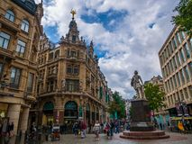 Cityscape of Antwerp, the capital of Antwerp province in Flanders and most populous city proper in Belgium. Antwerp, Belgium - August 25, 2018 : Cityscape of stock images