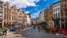 Cityscape of Antwerp royalty free stock image