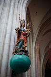 Antwerp, Belgium - June 19, 2011 : Interior of the Cathedral of Our Lady stock images