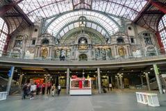 Antwerp, Belgium - May 11, 2015: People in Main hall of Antwerp Stock Images