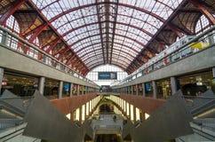 Antwerp, Belgium - May 11, 2015: People in Main hall of Antwerp Royalty Free Stock Image