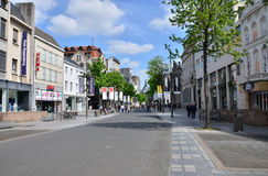 Antwerp, Belgium - May 10, 2015: Tourist on The Meir, the main shopping street of Antwerp Stock Photo