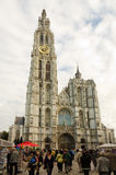 Antwerp. BELGIUM - OCTOBER 26: Cathedral of Our Lady on October 26, 2013 in  in , Belgium. The cathedral was completed in 1521 and this is the highest church Stock Photos