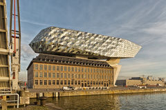 Antwerp, Belgium - October 2016: The new Port House in Antwerp r. Epurposes, renovates into a new headaquarters for the port, creates by Zaha Hadid, her last Royalty Free Stock Photography