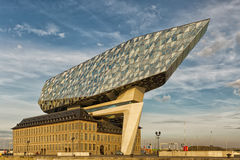 Antwerp, Belgium - October 2016: The new Port House in Antwerp r. Epurposes, renovates into a new headaquarters for the port, creates by Zaha Hadid, her last Royalty Free Stock Images