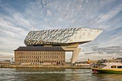Antwerp, Belgium - October 2016: The new Port House in Antwerp r Royalty Free Stock Images