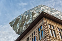 Antwerp, Belgium - October 2016: The new Port House in Antwerp r. Epurposes, renovates into a new headaquarters for the port, creates by Zaha Hadid, her last Royalty Free Stock Photo