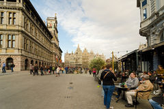 Antwerp. BELGIUM - OCTOBER 26: Unidentified people on the Grote Markt in the historical center, on October 26, 2013 in  in , Belgium Royalty Free Stock Images