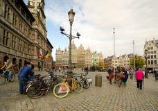 Antwerp. BELGIUM - OCTOBER 26: Unidentified people on the Grote Markt in the historical center, on October 26, 2013 in  in , Belgium Stock Photography