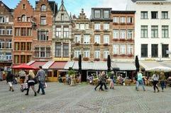 Antwerp. BELGIUM - OCTOBER 26: Unidentified people in the historic city center on October 26, 2013 in  in , Belgium.  is the second biggest city in Belgium Stock Photos