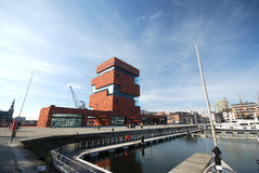The MAS museum in Antwerp Stock Photos