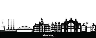Antwerp belgium skyline Royalty Free Stock Images