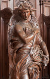 Antwerp - Carved angel in St. Charles Borromeo church Stock Images